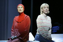 l-r: Stephanie Marshall (Offred), Heather Shipp (Offred) in THE HANDMAID'S TALE at English National Opera (ENO), London Coliseum, London WC2 03/04/2003 music: Poul Ruders libretto: Paul Bentley after...