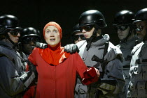 Stephanie Marshall (Offred) in THE HANDMAID'S TALE at English National Opera (ENO), London Coliseum, London WC2 03/04/2003 music: Poul Ruders libretto: Paul Bentley after the novel by Margaret Atwood...