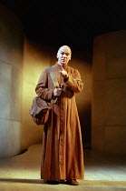 Des McAleer (Friar Lawrence) in ROMEO AND JULIET by Shakespeare at the Royal Shakespeare Company (RSC), Royal Shakespeare Theatre, Stratford-upon-Avon 05/07/2000 music: Stephen Warbeck design: Tom Pip...