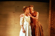 l-r: Alexandra Gilbreath (Juliet), Caroline Harris (Lady Capulet) in ROMEO AND JULIET by Shakespeare at the Royal Shakespeare Company (RSC), Royal Shakespeare Theatre, Stratford-upon-Avon 05/07/2000 m...
