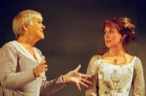 l-r: Eileen McCallum (Nurse), Alexandra Gilbreath (Juliet) in ROMEO AND JULIET by Shakespeare at the Royal Shakespeare Company (RSC), Royal Shakespeare Theatre, Stratford-upon-Avon 05/07/2000 music: S...