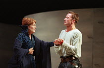 Helen Weir (Lady Montague), Anthony Howell (Benvolio) in ROMEO AND JULIET by Shakespeare at the Royal Shakespeare Company (RSC), Royal Shakespeare Theatre, Stratford-upon-Avon 05/07/2000 music: Stephe...