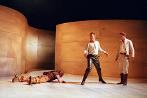 l-r: Keith Dunphy (Tybalt), Anthony Howell (Benvolio), David Tennant (Romeo) in ROMEO AND JULIET by Shakespeare at the Royal Shakespeare Company (RSC), Royal Shakespeare Theatre, Stratford-upon-Avon 0...