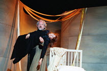 carrying Juliet's 'lifeless' body - Ian Hogg (Capulet), Alexandra Gilbreath (Juliet) in ROMEO AND JULIET by Shakespeare at the Royal Shakespeare Company (RSC), Royal Shakespeare Theatre, Stratford-upo...