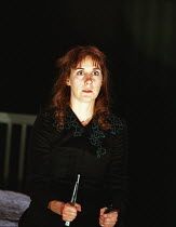 Alexandra Gilbreath (Juliet) in ROMEO AND JULIET by Shakespeare at the Royal Shakespeare Company (RSC), Royal Shakespeare Theatre, Stratford-upon-Avon 05/07/2000 music: Stephen Warbeck design: Tom Pip...