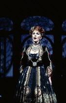 Valerie Masterson (Hanna Glawari) in THE MERRY WIDOW by Franz Lehar at the English National Opera (ENO), London Coliseum, London WC2 26/03/1986 lyrics: Victor Leon & Leo Stein conductor: Herbert Priko...