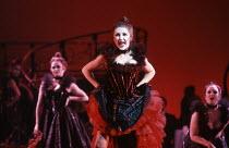 Lesley Garrett (Valencienne) in THE MERRY WIDOW by Franz Lehar at the English National Opera (ENO), London Coliseum, London WC2 26/03/1986 lyrics: Victor Leon & Leo Stein conductor: Herbert Prikopa de...