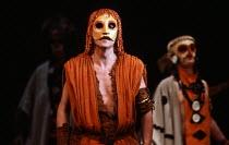 Philip Langridge (Orpheus Man) in THE MASK OF ORPHEUS at the English National Opera (ENO), London Coliseum 21/05/1986 music: Harrison Birtwistle libretto: Peter Zinovieff conductor: Elgar Howarth desi...