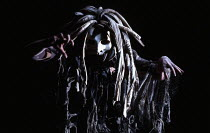 Marie Angel (The Oracle of the Dead) in THE MASK OF ORPHEUS at the English National Opera (ENO), London Coliseum 21/05/1986 music: Harrison Birtwistle libretto: Peter Zinovieff conductor: Elgar Howart...