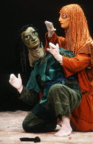 masked dancers in THE MASK OF ORPHEUS at the English National Opera (ENO), London Coliseum 21/05/1986 music: Harrison Birtwistle libretto: Peter Zinovieff conductor: Elgar Howarth design: Jocelyn Herb...