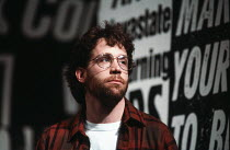 Tom Hulce (Ned Weeks) in THE NORMAL HEART by Larry Kramer at the Albery Theatre, London WC2 20/05/1986 a Royal Court Theatre production design: Geoff Rose lighting: Gerry Jenkinson director: David Hay...