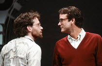 l-r: Tom Hulce (Ned Weeks), John Terry (Bruce Niles) in THE NORMAL HEART by Larry Kramer at the Albery Theatre, London WC2 20/05/1986 a Royal Court Theatre production design: Geoff Rose lighting: Gerr...