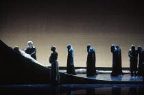 at left: Frederica von Stade (Melisande), Robert Lloyd (Arkel) in PELLEAS ET MELISANDE by Debussy at The Royal Opera, London WC2 24/03/1993 conductor: Claudio Abbado design: Yannis Kokkos lighting: Va...