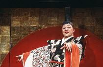 Avo Kittask (The Mikado) in THE MIKADO by Gilbert & Sullivan at The Old Vic, London SE1 29/02/1984 a Stratford Festival Canada production set design: Susan Benson & Douglas McLean costumes: Susan Bens...