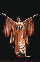 Richard McMillan (Pooh-Bah) in THE MIKADO by Gilbert & Sullivan at The Old Vic, London SE1 29/02/1984 a Stratford Festival Canada production set design: Susan Benson & Douglas McLean costumes: Susan B...