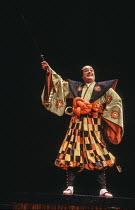 Eric Donkin (Ko-Ko) in THE MIKADO by Gilbert & Sullivan at The Old Vic, London SE1 29/02/1984 a Stratford Festival Canada production set design: Susan Benson & Douglas McLean costumes: Susan Benson li...