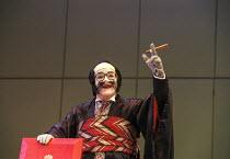 Royce Mills (Pooh-Bah) in THE MIKADO by Gilbert & Sullivan at Savoy Theatre, London WC2 21/09/2000 a D'Oyly Carte production musical director: John Owen Edwards design: Tim Goodchild choreography: Li...