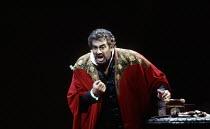 Placido Domingo (Otello) in OTELLO by Verdi at the The Royal Opera, Covent Garden, London WC2 23/10/1992 music: Giuseppe Verdi libretto: Arrigo Boito after Shakespeare's OTHELLO conductor: Georg Solti...