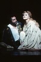 Dennis O'Neill (Otello), Elena Prokina (Desdemona) in OTELLO by Verdi at the The Royal Opera, Covent Garden, London WC2 13/01/1995 music: Giuseppe Verdi libretto: Arrigo Boito after Shakespeare's OTHE...