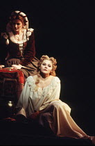 l-r: Leah-Marian Jones (Emilia), Elena Prokina (Desdemona) in OTELLO by Verdi at the The Royal Opera, Covent Garden, London WC2 13/01/1995 music: Giuseppe Verdi libretto: Arrigo Boito after Shakespear...