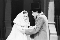 Helena Bonham-Carter (Anne Catherick / Laura Fairlie), Gerard Logan (Walter Hartright) in THE WOMAN IN WHITE by Melissa Murray at the Greenwich Theatre, London SE10 05/12/1988 based on the novel by Wi...