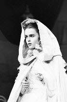 Helena Bonham-Carter (Anne Catherick / Laura Fairlie) in THE WOMAN IN WHITE by Melissa Murray at the Greenwich Theatre, London SE10 05/12/1988 based on the novel by Wilkie Collins design: Alexandra By...