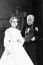 Helena Bonham-Carter (Anne Catherick / Laura Fairlie), Michael Byrne (Count Fosco) in THE WOMAN IN WHITE by Melissa Murray at the Greenwich Theatre, London SE10 05/12/1988 based on the novel by Wilkie...