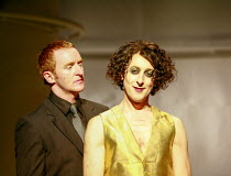 l-r: Tony Curran (Pentheus), Alan Cumming (Dionysus) in THE BACCHAE by Euripides at the Lyric Hammersmith, London W6 07/09/2007 a National Theatre of Scotland production new version by David Greig des...