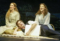 l-r: Jill Paice (Laura Fairlie), Martin Crewes (Walter Hartright), Maria Friedman (Marian Halcombe) in THE WOMAN IN WHITE at the Palace Theatre, London W1 15/09/2004 music: Andrew Lloyd Webber lyrics:...