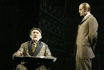 l-r: Edward Petherbridge (Mr Fairlie), Oliver Darley (Sir Percival Glyde) in THE WOMAN IN WHITE at the Palace Theatre, London W1 15/09/2004 music: Andrew Lloyd Webber lyrics: David Zippel book: Charlo...