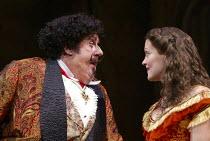 Michael Crawford (Count Fosco), Maria Friedman (Marian Halcombe) in THE WOMAN IN WHITE at the Palace Theatre, London W1 15/09/2004 music: Andrew Lloyd Webber lyrics: David Zippel book: Charlotte Jones...