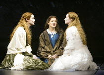 l-r: Jill Paice (Laura Fairlie), Maria Friedman (Marian Halcombe), Angela Christian (Anne Catherick) in THE WOMAN IN WHITE at the Palace Theatre, London W1 15/09/2004 music: Andrew Lloyd Webber lyrics...