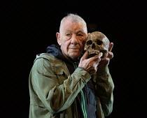 Ian McKellen (Hamlet) in HAMLET by Shakespeare opening at the Theatre Royal Windsor, England on 20/07/2021 set design: Lee Newby costumes: Loren Epstein wigs & make-up: Susanna Peretz lighting: Zoe S...