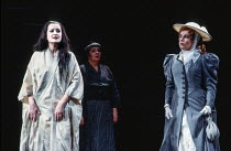 l-r: Magdalena Falewicz (Cio-Cio-San / Madam Butterfly), Anne-Marie Owens (Suzuki), Ethna Robinson (Kate Pinkerton) in MADAM BUTTERFLY by Puccini at English National Opera (ENO), London Coliseum, Lond...