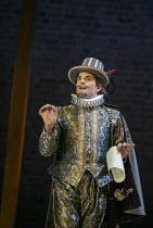 Michael Matus (Sir Petronel Flash) in EASTWARD HO! by Ben Jonson, John Marston & George Chapman at the Royal Shakespeare Company (RSC), Swan Theatre, Stratford-upon-Avon 25/04/2002 design: Robert Jone...