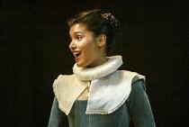 Shelley Conn (Mildred) in EASTWARD HO! by Ben Jonson, John Marston & George Chapman at the Royal Shakespeare Company (RSC), Swan Theatre, Stratford-upon-Avon 25/04/2002 design: Robert Jones lighting:...