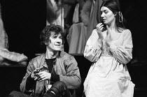 Ian McKellen (Hamlet), Susan Fleetwood (Ophelia) in HAMLET by Shakespeare for the Prospect Theatre Company 1971 UK & European Tour design: Michael Annals lighting: Michael Outhwaite director: Robert C...
