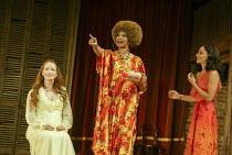 l-r: Caroline Faber (Emilia), Claire Benedict (Maquerelle), Sasha Behar (Bianca) in THE MALCONTENT by John Marston at the Royal Shakespeare Company (RSC), Swan Theatre, Stratford-upon-Avon, England 20...