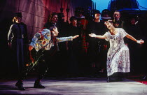 Jack loses Elsie: Richard Suart (Jack Point), Alwyn Mellor (Elsie Maynard) in THE YEOMEN OF THE GUARD by Gilbert & Sullivan at Welsh National Opera, Cardiff, Wales 13/12/1994 conductor: Gareth Jones s...