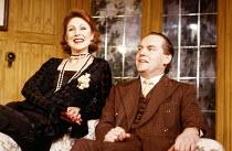 Jane How (Larita), Eric Carte (Charles Burleigh) in EASY VIRTUE by Noel Coward at the King's Head Theatre Club, Islington, London N1 01/1988 set design: Graham Wynne costumes: Tim Heywood director: Ti...