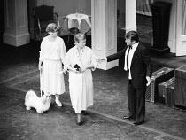 l-r: Finty Williams, Judi Dench, Michael Williams in SEMI-MONDE by Noel Coward at the Royalty Theatre, London WC2 1987 a Bristol Old Vic Theatre Company production design: Carl Toms director: Tim Lusc...