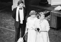l-r: Michael Williams, Finty Williams, Judi Dench in SEMI-MONDE by Noel Coward at the Royalty Theatre, London WC2 1987 a Bristol Old Vic Theatre Company production design: Carl Toms director: Tim Lusc...
