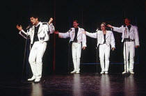 EUROVISION written & directed by Tim Luscombe at the Vaudeville Theatre, London WC2 11/1993 original songs: Jason Carr choreography: Richard Sampson