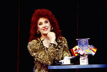 Anita Dobson (compere) in EUROVISION written & directed by Tim Luscombe at the Vaudeville Theatre, London WC2 11/1993 original songs: Jason Carr choreography: Richard Sampson