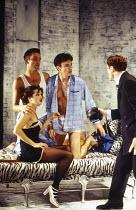 l-r: Clive Owen (Otto), Rachel Weisz (Gilda), Paul Rhys (Leo), Nicholas Clay (Ernest Friedman) in DESIGN FOR LIVING by Noel Coward at the Donmar Warehouse, London WC2 06/09/1994 design: Stephen Brimso...
