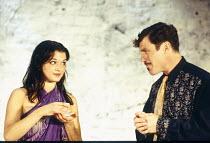 Rachel Weisz (Gilda), Nicholas Clay (Ernest Friedman) in DESIGN FOR LIVING by Noel Coward at the Donmar Warehouse, London WC2 06/09/1994 design: Stephen Brimson Lewis lighting: Mark Henderson director...
