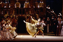 a Courtly Dance at the Palace of Whitehall in GLORIANA by Benjamin Britten at English National Opera (ENO), London Coliseum WC2 12/03/1984 (Royal Gala) conductor: Mark Elder design: Alix Stone directo...