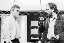 l-r: Brian Cox (Paul Cash), Alun Armstrong (Stuart Clarke) in FASHION by Doug Lucie at the Royal Shakespeare Company (RSC), The Other Place, Stratford-upon-Avon, England 07/04/1987 design: Fotini Dimo...