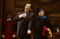 Bonaventura Bottone (An Italian Tenor), Lillian Watson (An Italian Soprano) in CAPRICCIO at The Royal Opera, Covent Garden, London WC2 26/01/1991 music: Richard Strauss libretto: Clemens Krauss & Rich...