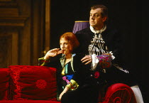 Anne Howells (Clairon), Thomas Allen (The Count) in CAPRICCIO at The Royal Opera, Covent Garden, London WC2 26/01/1991 music: Richard Strauss libretto: Clemens Krauss & Richard Strauss conductor: Jeff...
